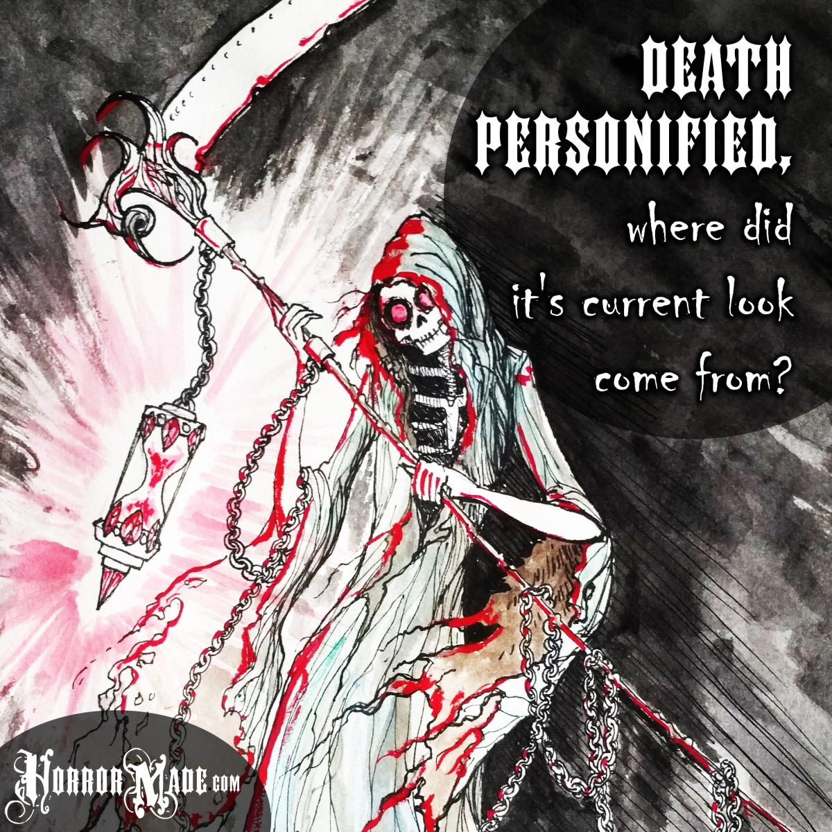 Death personified, where did it's current look come from?