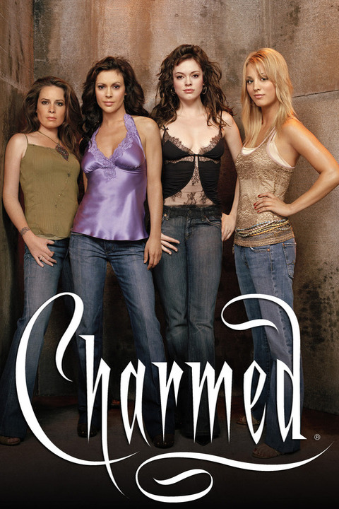 Charmed Image #CH05-0329 Pictured (l-r): Holly Marie Combs as Piper Halliwell, Alyssa Milano as Phoebe Halliwell, Rose McGowan as Paige Matthews, Kaley Cuoco as Billie Credit: © The WB/James White