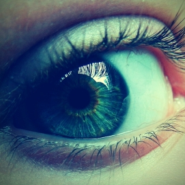 eyes staring back
