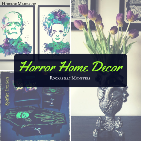 Rockabilly Monsters: Horror Home Decor
