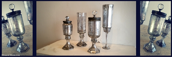 DIY Apothecary Jars looking suave