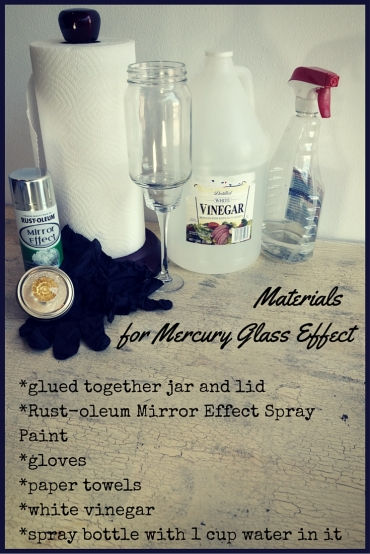 Materials for Mercury Glass Effect