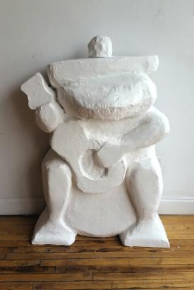 4' tall frog sculpture