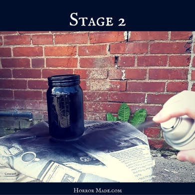 stage 2 paint the jar black