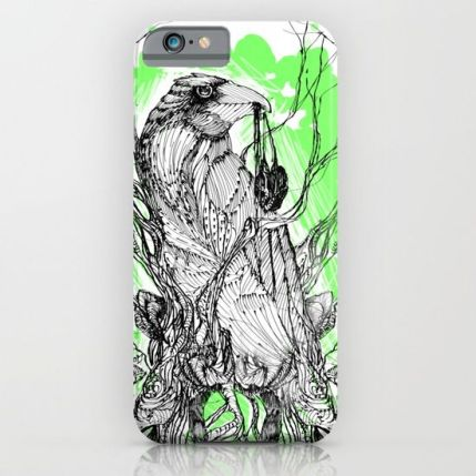 our-green-raven-heart-cases